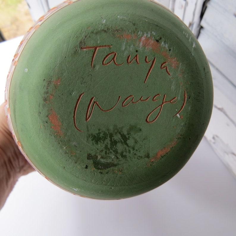 Tanya Navajo Handmade 7 Vintage Native American Navajo Vase Signed