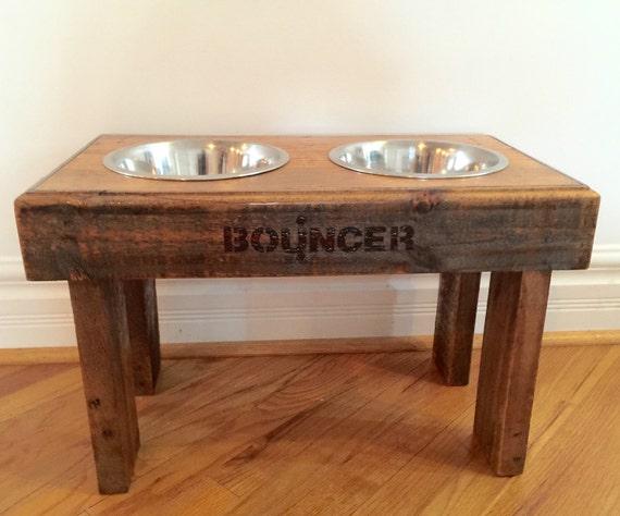 Enjoyable Reclaimed Rustic Pallet Furniture Dog Bowl Stand Golden Oak Finish 22L X 12W X 14T Cjindustries Chair Design For Home Cjindustriesco