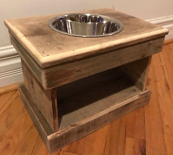 Raised Pallet Dog Bowl Feeding Station Storage Unit With A 2 | Etsy