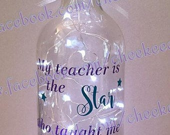 Personalised Light Bottle