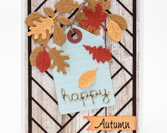Fall Leaves, Autumn Greeting Card, Handmade Thanksgiving