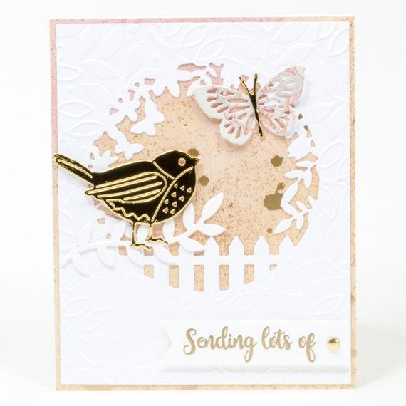 hand made Encouraging greeting card sunshine friendship bird happy