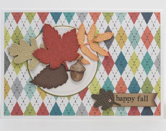 Autumn Greeting Cards Handmade, Paper Handmade Cards, Fall Leaves, Happy Fall Paper Card, Any Occasion, Blessings, Note Cards Handmade