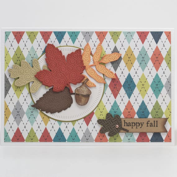 Autumn greeting cards handmade paper handmade cards fall etsy image 0 m4hsunfo