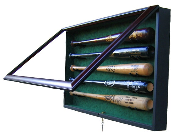 5 Bat Display Case with UV protective glass