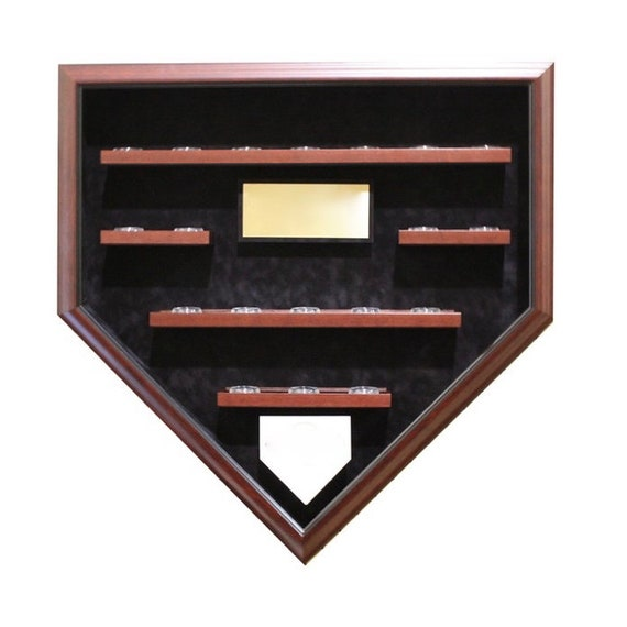 Create your own 19 Baseball Champions Homeplate Shaped Display Case