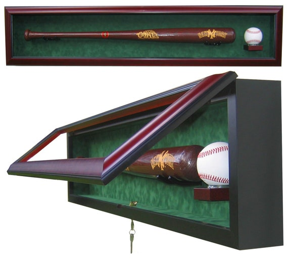 1 Bat 1 Ball Display Case with UV protective glass