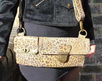 Jilly Leopard Print Leather Bumbag