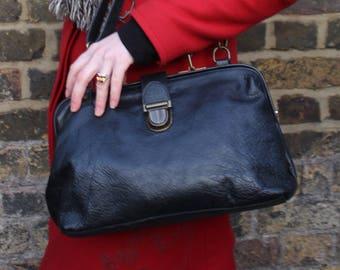 Medium Doctor Bag Black leather