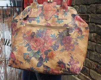 Lucy Framed Bag in Summer Garden Floral Leather