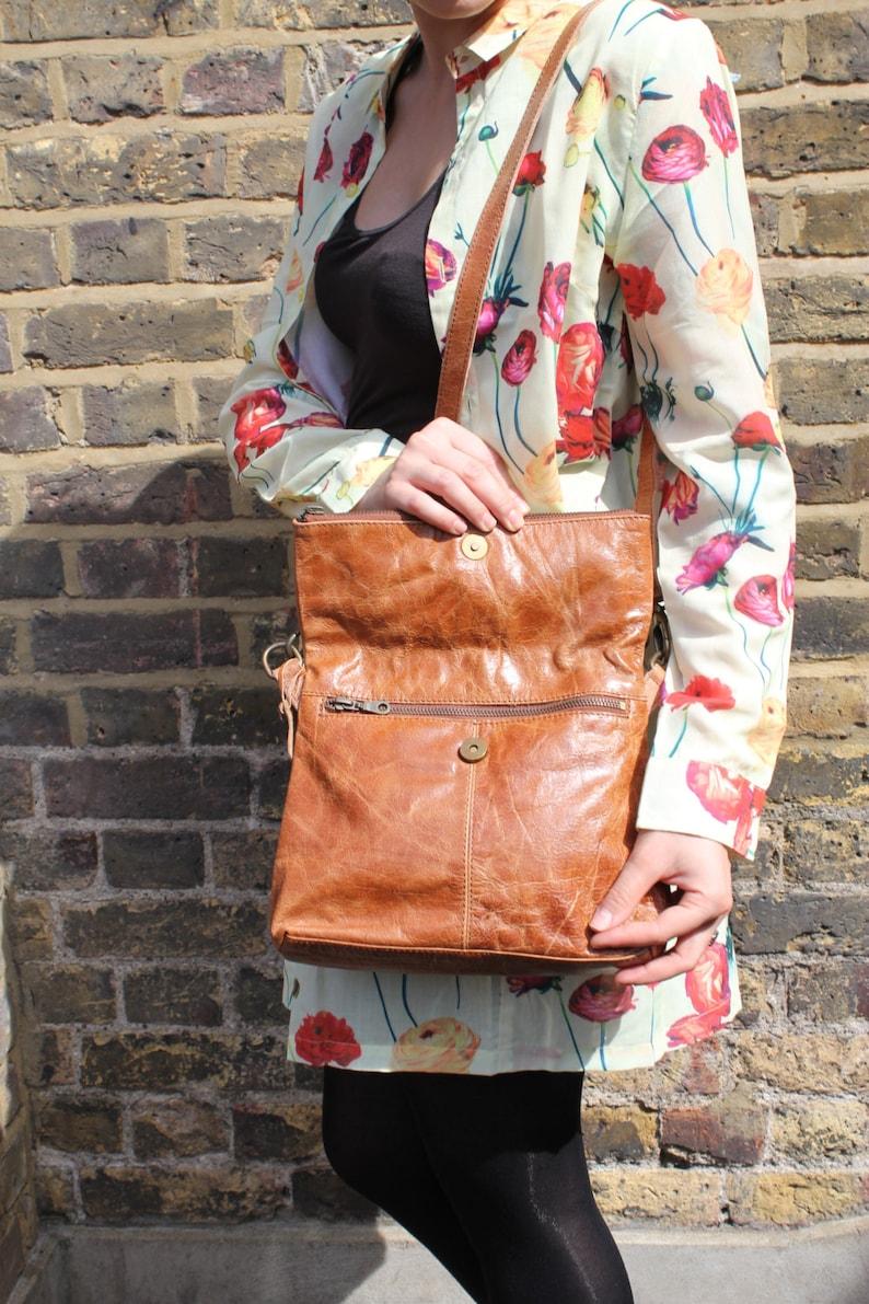 Mini Amelie Spanish Leather Foldover Messenger Bag