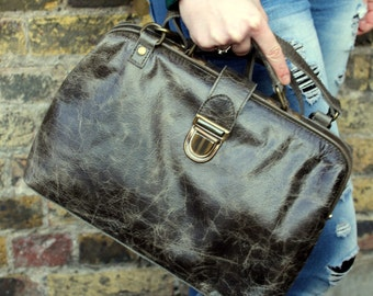 Olive Green Leather Doctor Bag 01