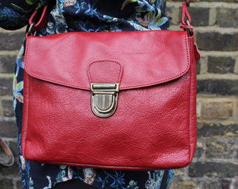 Louisa Red Satchel