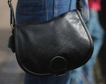 Odilynch Isabelle Small Saddle Bag Black