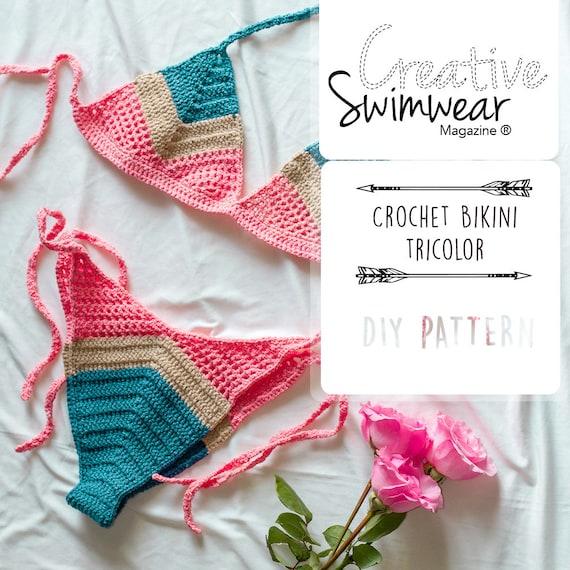 Crochet Bikini Pattern How to make Crochet swimwear | Etsy