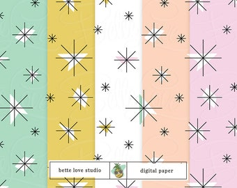 Retro Dishes Print, Retro China Print, Digital Paper, Digital Pattern, Paper Background, Digital Prints, Seamless Pattern, Vector Pattern