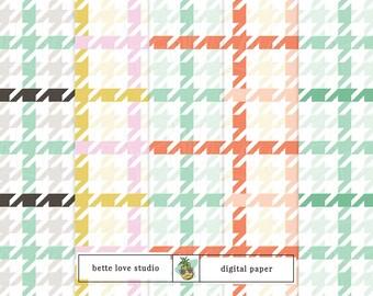 Holiday Houndstooth Pattern, Christmas Pattern, Christmas Digital Paper, Houndstooth, Christmas Digital Prints, Seamless Pattern, Holiday