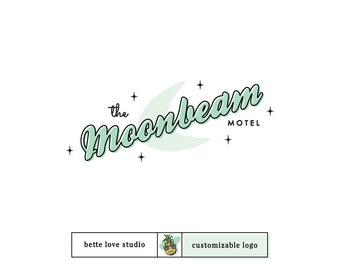 Logo Design, Customizable Logo, Semi Custom Logo, Retro Logo, Vintage Logo, Moon Logo, Atomic Logo, Restaurant Logo, Cafe Logo, Vegas Logo
