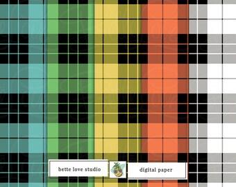 Tartan Digital Paper, Tartan Digital Pattern, Plaid Digital Pattern, Digital Download, Digital Prints, Seamless Pattern, Vector Pattern