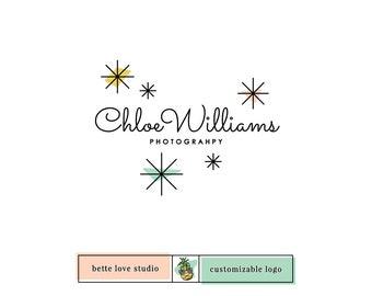 Logo Design, Customizable Logo, Semi Custom Logo, Retro Logo, Vintage Logo, Bakery Logo, Beauty Logo, Makeup Logo, Photography Logo