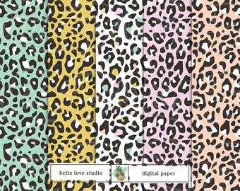 Leopard Print, Digital Paper, Digital Pattern, Paper Background, Digital Download, Digital Prints, Seamless Pattern, Vector Pattern