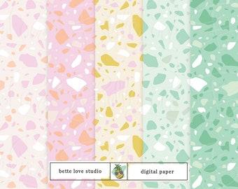 Terrazzo Digital Paper, Terrazzo Tile, Terrazzo Wallpaper, Terrazzo Seamless Pattern, Digital Download, Seamless Pattern, Vector Pattern