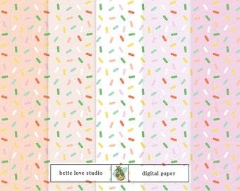 Sprinkles, Sprinkled, Digital Paper, Digital Pattern, Paper Background, Digital Download, Digital Prints, Seamless Pattern, Vector Pattern