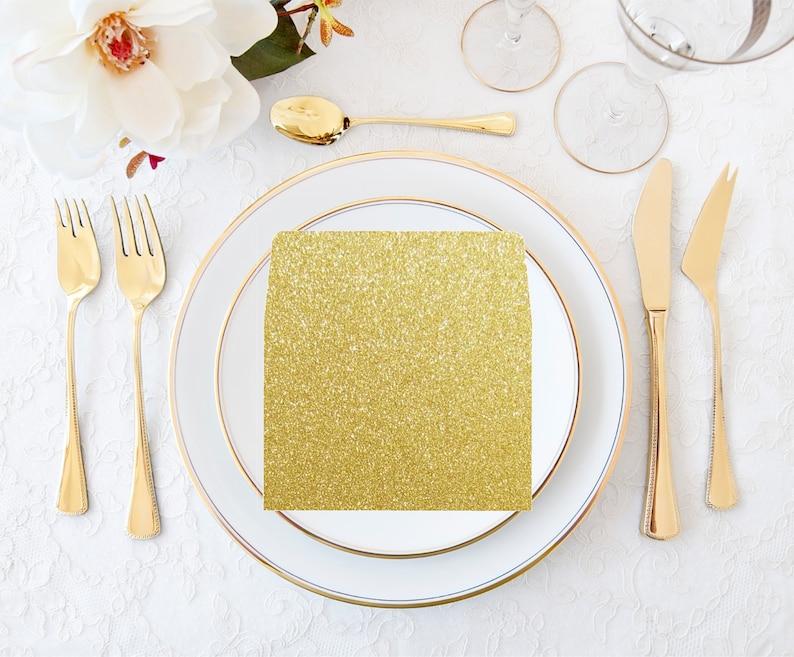 Envelope Liners Gold Glitter Wedding Invitation Envelope image 0