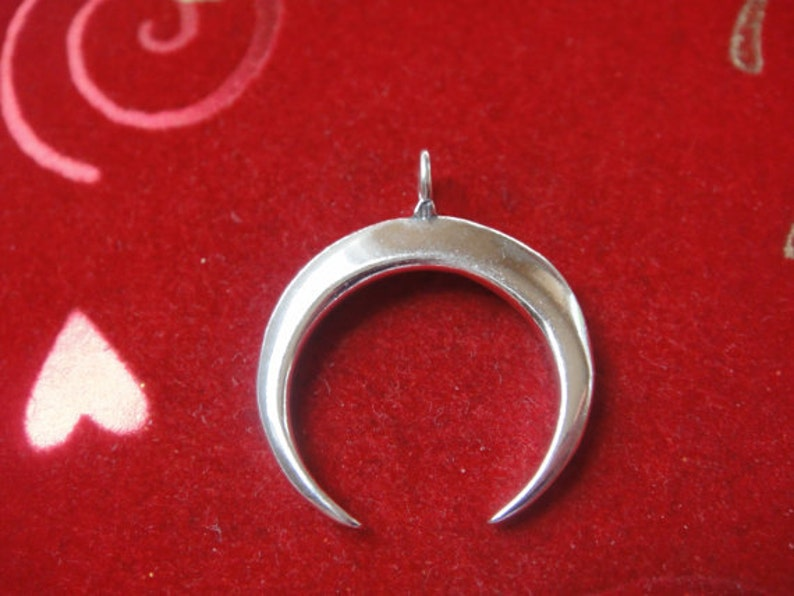 925 sterling silver Crescent Moon Pendant silver moon charm silver moon half moon