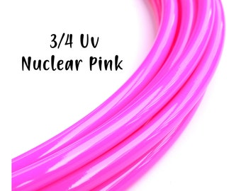 ce5d8b968f3 NEW 3 4 UV Nuclear Pink Glossy Hoops ~ Radioactive Uv Glossy Polypro Hoops