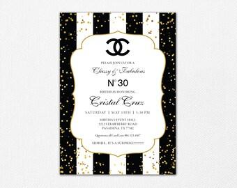 Chanel Invitations Etsy