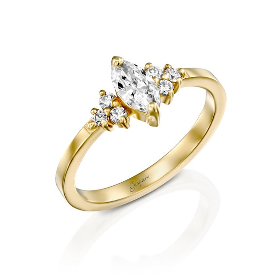 Diamond Gold Ring,14K Solid Gold Ring,Engagement Ring,Wedding Ring,Anniversary Gift,Gift For Her,Mother/'s Day Gift,Propose Ring,Women/'s Ring