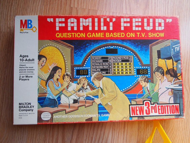 Vintage Family Feud Board Game 3rd Edition
