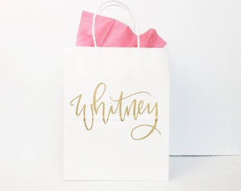 Personalized Gift Bags, Bridesmaid Gift Bags, Wedding Gift Bags, Bridal Shower Gift Bag, Bachelorette Party Bags, Welcome Bags, Custom Bags