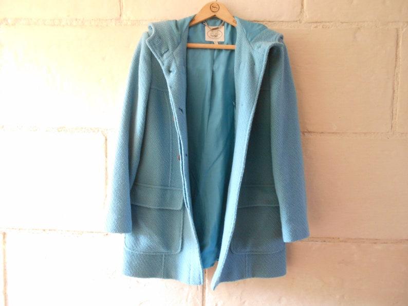 ZARA Wool Multi Check Duffle Coat With Toggles Medium M
