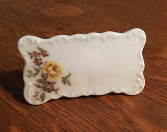 Table Settings Vintage Bone China floral Name Place Card Holders 1950s