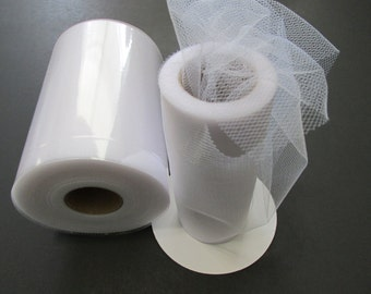 White 100 Yard Tulle Fabric