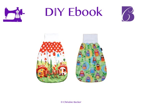 DIY Ebook PDF Pattern,Tutorial Baby Sleep Sack