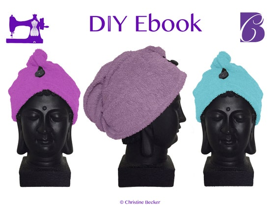 DIY Ebook PDF Pattern,Tutorial Hair Dry Towel