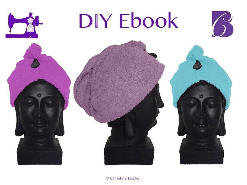 DIY Ebook PDF PatternTutorial Hair Dry Towel image 0