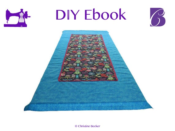 PDF Ebook Tutorial Table Runner / Table Cloth Mitered Hem