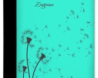 Testimony folder named Pusteblume Turquoise