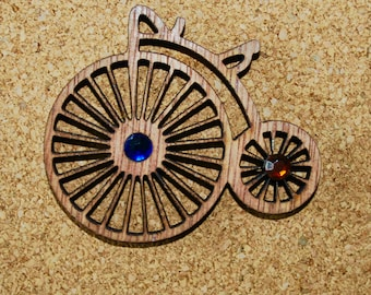Penny Farthing steampunk victorian style brooch pin