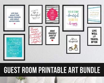 Guest Room Printable Art Bundle for a Gallery Wall