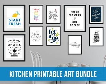 Kitchen Printable Art Bundle for a Gallery Wall