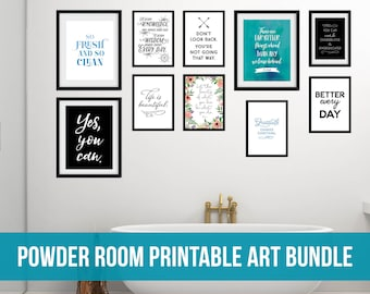 Powder Room Printable Art Bundle for a Gallery Wall