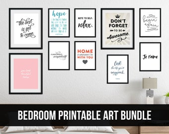 Bedroom Art Bundle for a Gallery Wall