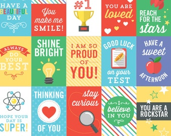Lunch Box Notes for Kids - Back to School Notes - Inspirational Cards - Assorted Lunch Box Notes - 25 Printable Cards - Instant Download