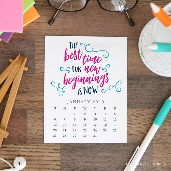 Inspirational Quotes Desk Calendar : Printable desk calendar month inspirational and etsy