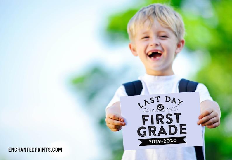 Last Day of School Sign  Preschool Pre-K Grades 1-12 End image 0